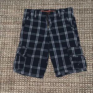 Kids Wrangler plaid shorts